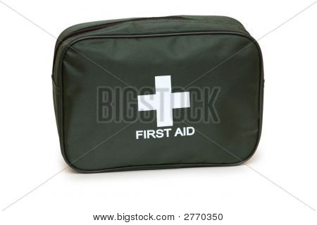 First Aid Kit Isolated On The White