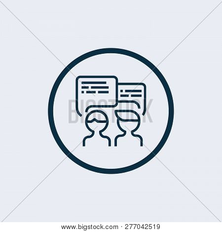 Negotiation Vector Icon. Negotiation Vector Concept. Negotiations Vector Icon. - Vector
