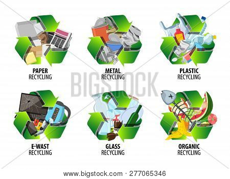 Recycling Label Vector & Photo (Free Trial) | Bigstock