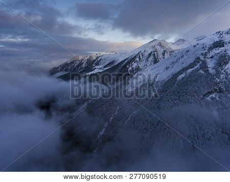 View Of The Mountains In Aragnouet, Hautes-pyrenees, Occitanie, France