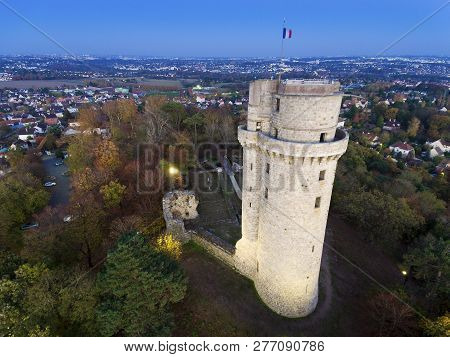 View Of The Tower Of Montlhery, Essonne, France