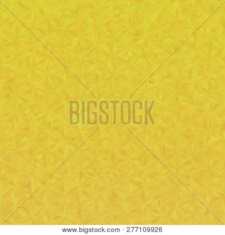 Vector Eps10 Gold Metal Effect With Blurred Triangles. Pattern Include Mesh Gradient. Yellow Backgro