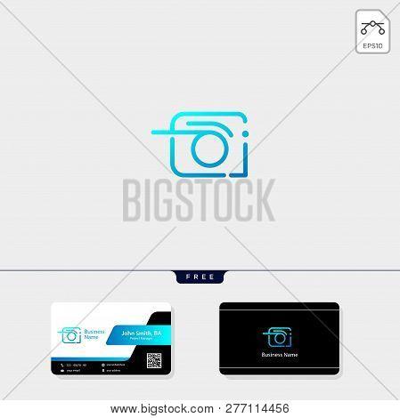 Photography, Photographer, Camera Logo Template Vector Illustration, Free Business Card Design