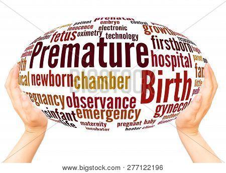 Premature Birth Word Cloud Hand Sphere Concept