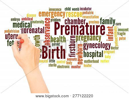 Premature Birth Word Cloud Hand Writing Concept