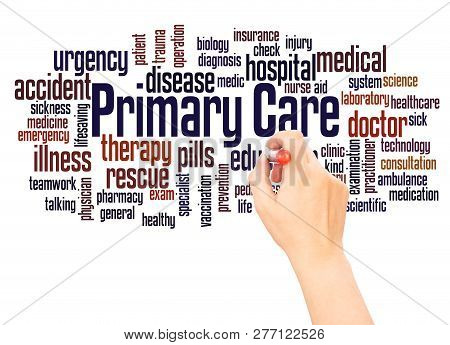 Primary Care Word Cloud Hand Writing Concept