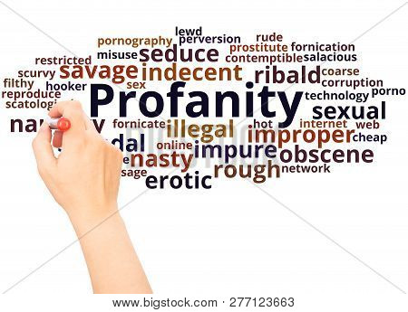 Profanity Word Cloud Hand Writing Concept