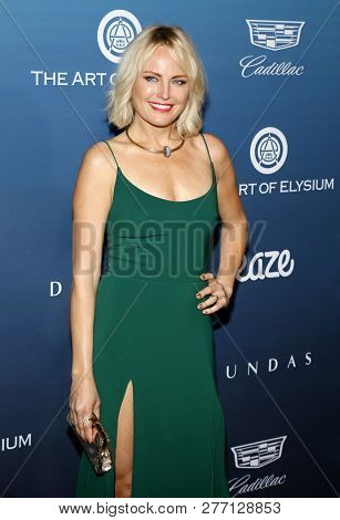 Malin Akerman at the Art Of Elysium's 12th Annual Heaven Celebration held at the Private Venue in Los Angeles, USA on January 5, 2019.