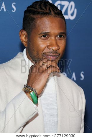 Usher at the Art Of Elysium's 12th Annual Heaven Celebration held at the Private Venue in Los Angeles, USA on January 5, 2019.