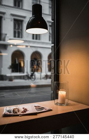 Warmth cafe on a dull day in Oslo
