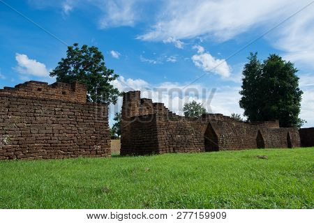 Thung Setthi Fortress Historical Park In Nakhon Chum Kamphaeng Phet, Thailand (a Part Of The Unesco