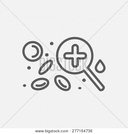 Hematology icon line symbol. Isolated  illustration of  icon sign concept for your web site mobile app logo UI design. poster