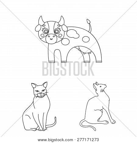 Isolated Object Of Animal And Habitat Icon. Set Of Animal And Farm Vector Icon For Stock.