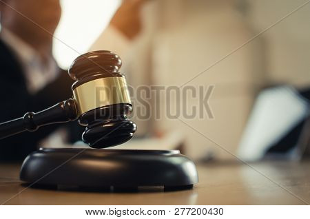 Professional Justice Lawyer In Black Suit Working About Legal Legislation And Pointing Finger In Cou