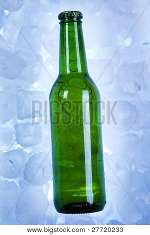 Bottles Of Beer, Three fresh beer with ice