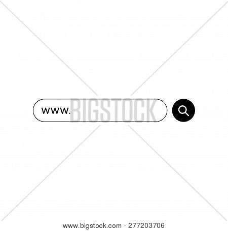 Set Www Search Bar Icons. Vector Illustration Isolated On White Background. Www Search Bar Icon For