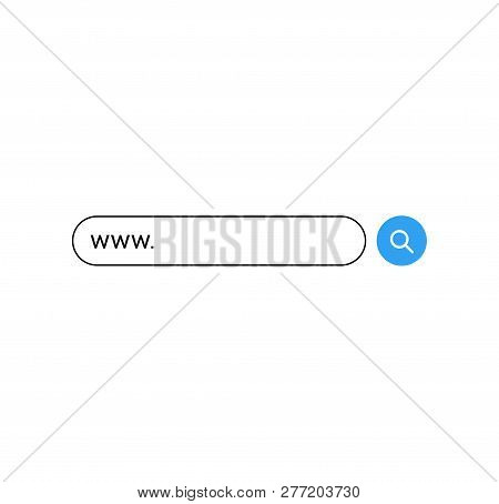 Set www search bar icons. Vector illustration isolated on white background. www search bar icon for web site, app, ui and logo. Concept search and www. poster