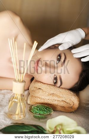 Spa. Beautiful Couple Relaxing Together At Spa Centre After A Beauty Treatment, Massage For Spa, Sal