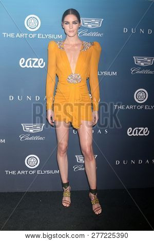 LOS ANGELES - JAN 5:  Hilary Rhoda at the Art of Elysium 12th Annual HEAVEN Celebration at a Private Location on January 5, 2019 in Los Angeles, CA