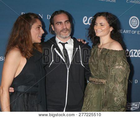 LOS ANGELES - JAN 5:  Summer Phoenix, Joaquin Phoenix, Rain Phoenix at the Art of Elysium 12th Annual HEAVEN Celebration at a Private Location on January 5, 2019 in Los Angeles, CA