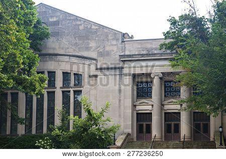 Front Entrance Of Landmark Performing Arts School In Milwaukee Wisconsin