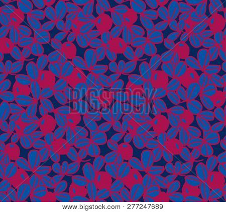 Berries Vector Background Illustration. Blueberry, Bilberry Image. Abstract Decorative Vintage Motif