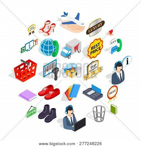 Publicity Icons Set. Isometric Set Of 25 Publicity Vector Icons For Web Isolated On White Background