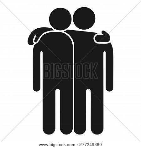 Friendship Icon. Simple Illustration Of Friendship Vector Icon For Web Design Isolated On White Back