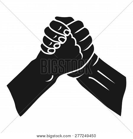 Brotherly Handshake Icon. Simple Illustration Of Brotherly Handshake Vector Icon For Web Design Isol