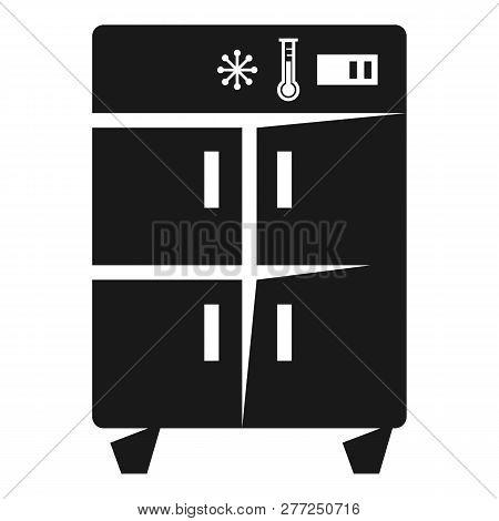 Two Compartment Refrigerator Icon. Simple Illustration Of Two Compartment Refrigerator Vector Icon F