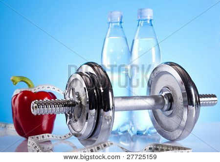 Dumbbells and supplements, Body building