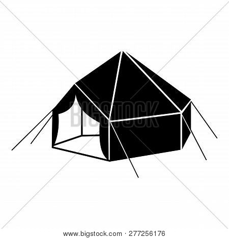 Camp Tent Icon. Simple Illustration Of Camp Tent Vector Icon For Web Design Isolated On White Backgr