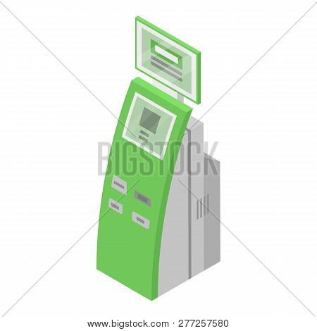 Payment Green Equipment Icon. Isometric Of Payment Green Equipment Vector Icon For Web Design Isolat