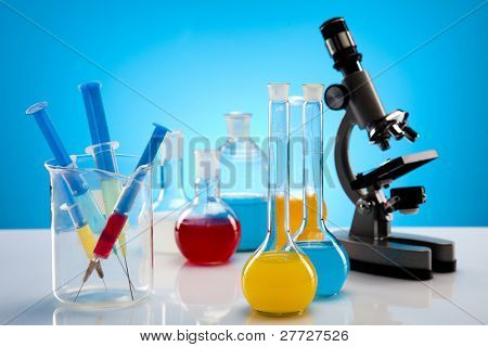 Equipment of a research laboratory