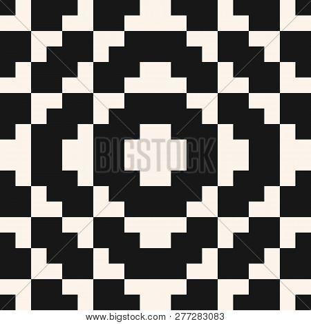 Vector Geometric Traditional Folklore Ornament. Fair Isle Seamless Pattern. Tribal Ethnic Motif. Orn