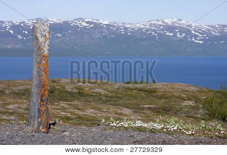 Seite, a holy stone among the Lapps, Sami in the northern provinces.