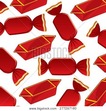 Decorative Pattern From Sweetmeats In Red Packing