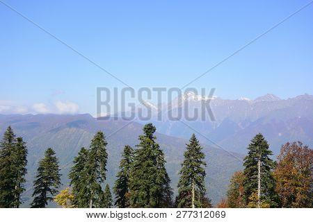 View Of The Ridge Psekhako, Sochi, Russia