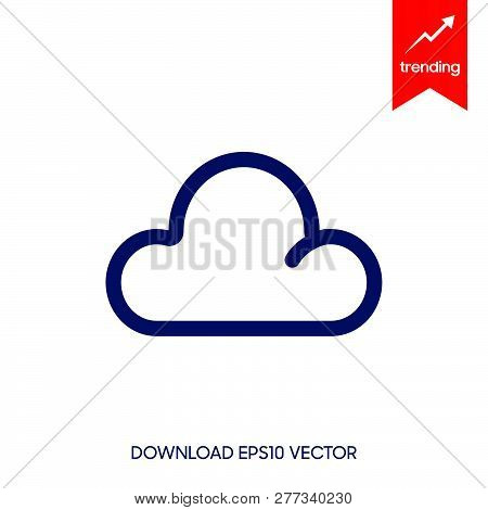 Cloud Icon Vector Icon On White Background. Cloud Icon Modern Icon For Graphic And Web Design. Cloud