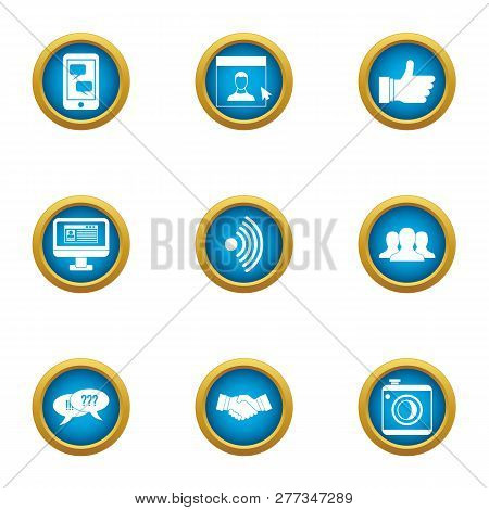 Negotiations Icons Set. Flat Set Of 9 Negotiations Icons For Web Isolated On White Background