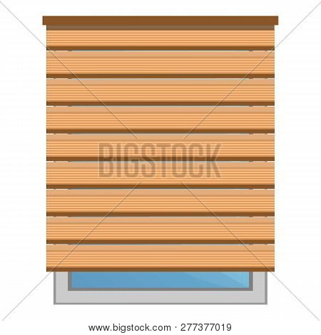 Wood Sun Blind Icon. Cartoon Of Wood Sun Blind Icon For Web Design Isolated On White Background