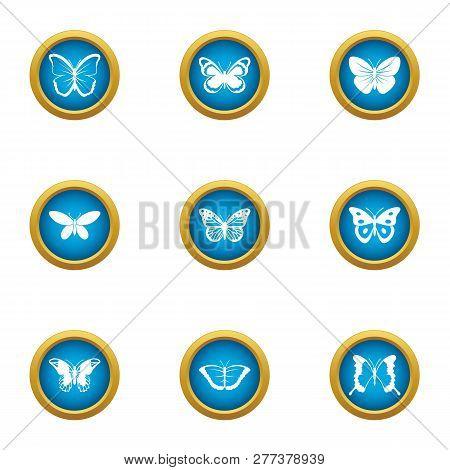 Pipistrelle Icons Set. Flat Set Of 9 Pipistrelle Icons For Web Isolated On White Background