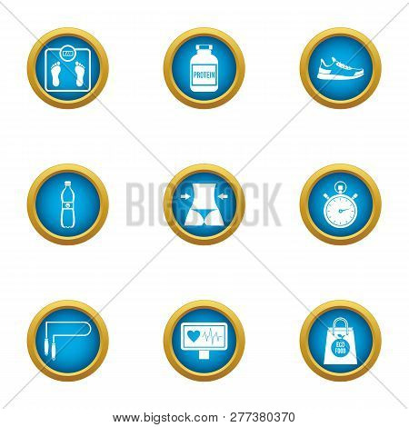 Waistline Icons Set. Flat Set Of 9 Waistline Icons For Web Isolated On White Background