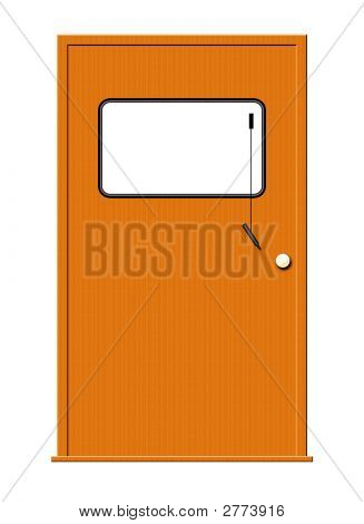 Wood Door With Marker Board