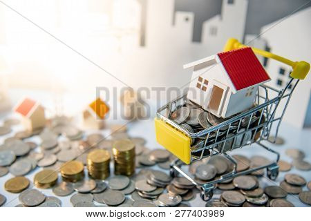 Real Estate Or Property Investment Concept. Home Mortgage Loan Rate. Construction Business Investing