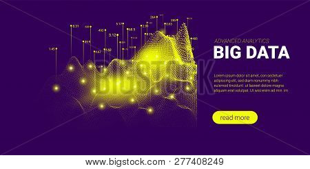 Big Data Stream Concept. Abstract Technology Background. Landing Page Template With Energy Stream An
