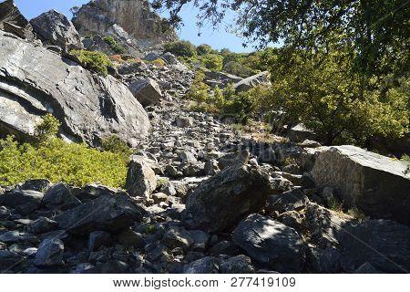 The Landslide Of Monte Lora In Villasalto