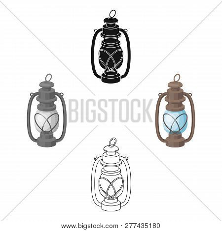 Portable Kerosene Lamp.african Safari Single Icon In Cartoon Style Vector Symbol Stock Illustration
