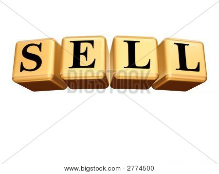 Golden Sell Isolated