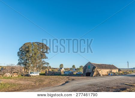Nieuwoudtsville, South Africa, August 29, 2018: The Camping Area And Restaurant At Matjiesfontein Fa